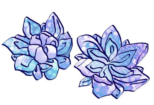 안주 세공 (파랑)