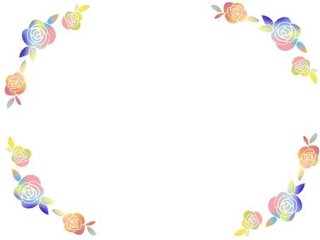 玫瑰框架/彩虹色