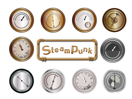 Steampunk meter set