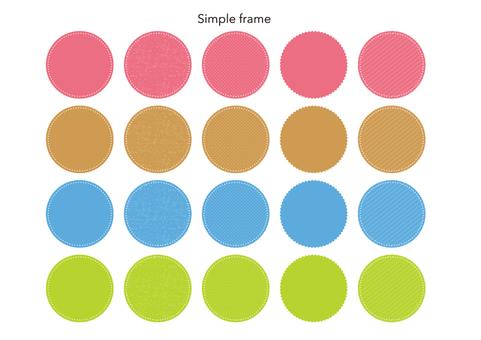 Simple round frame