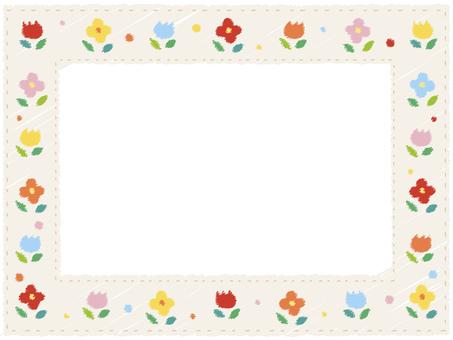 Spring flower frame 3