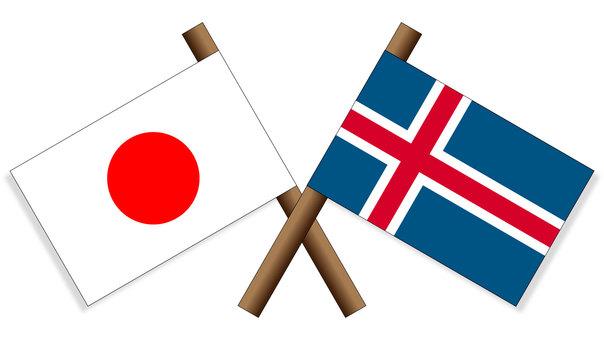 Flag Japan × Iceland