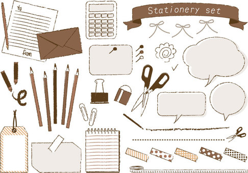 Various set of stationery _ 01 _ 1 c