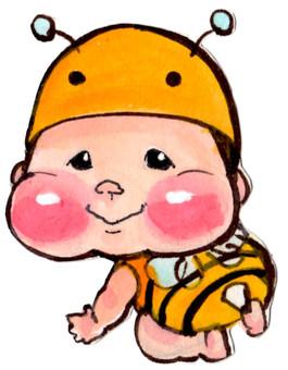 온화 아기 [꿀벌 코스프레】