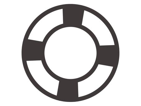 Floating wheel icon