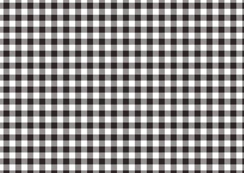 Gingham check <black × white>