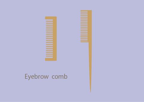 Eyebrow comb