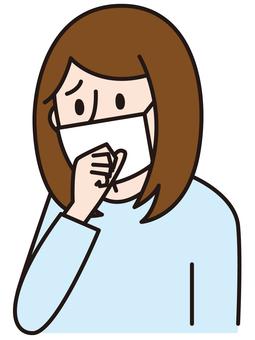 Cold mask masking women