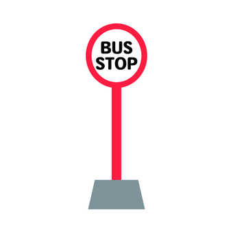 Image of bus stop (red)