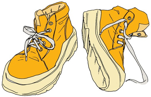 High cut sneakers / yellow