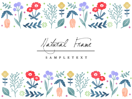 Natural frame material 106 nordic flowers