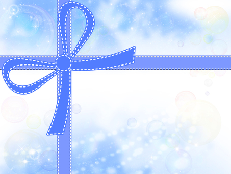 Frame with ribbon 03