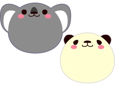 Face Animal Koala and Panda