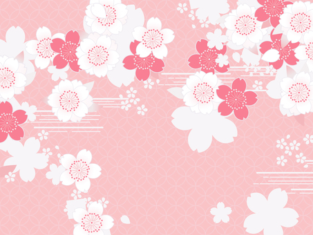 And stalks of the wind background and 桜 Zhu white