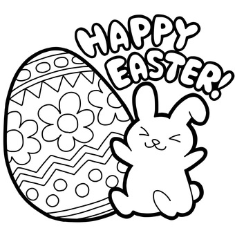 Easter rabbit (for coloring book)
