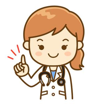 Explaining female doctor