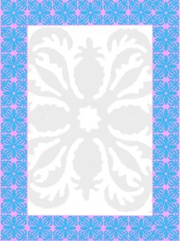 Hawaiian quilt style frame