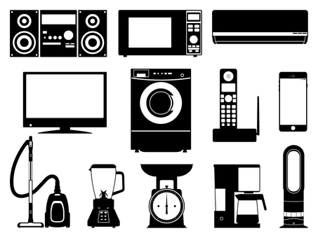 Home electronics monochrome