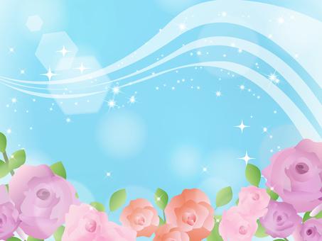 Rose frame decorative frame