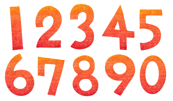 Numbers made with cutouts