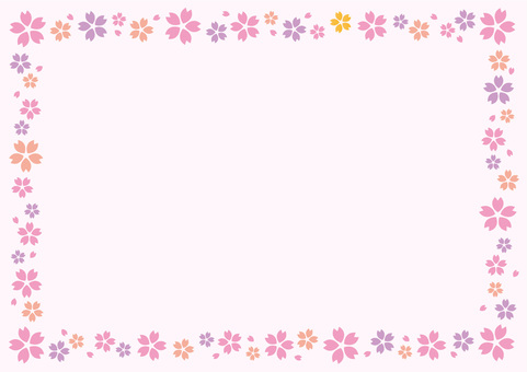Spring cherry frame ☆ background picture ☆ decorative pattern
