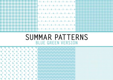 Summer pattern (blue-green)