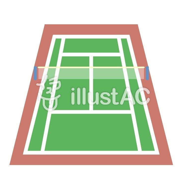 テニスコートイラスト No 427666無料イラストならイラストac