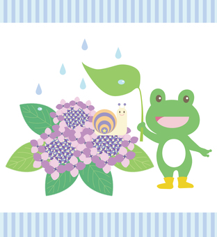 One scene illustration of rainy season