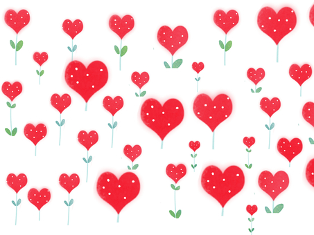 Heart flowers bloom 3