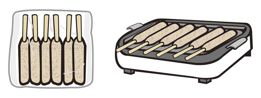 Bake grilled chicken