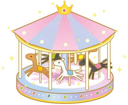 Cute merry-go-round