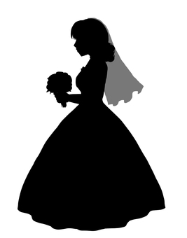 新娘的剪影