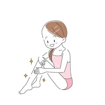 예쁜 다리 여성