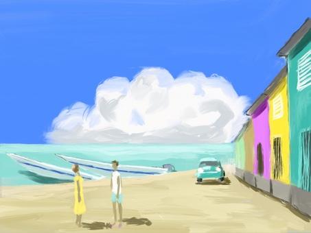 Summer coast
