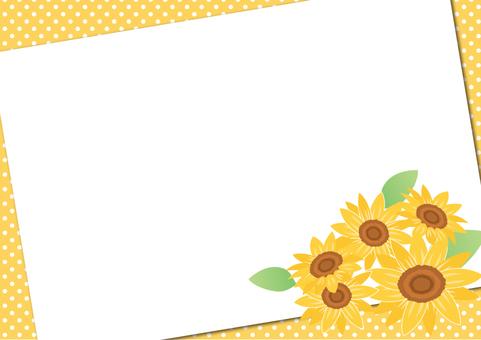 Summer material 038 Sunflower frame