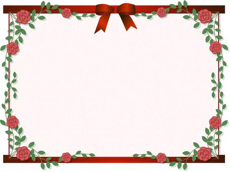 Roses and ribbon frames