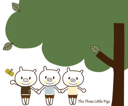Three little pigs friend