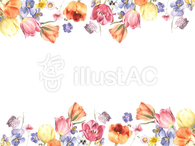 花枠255ー華やかな花枠飾り枠イラスト No 895991無料イラスト