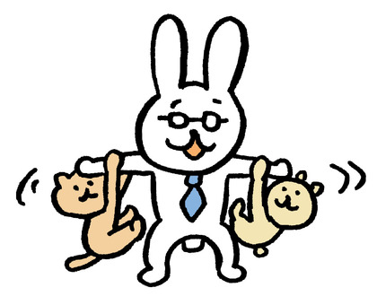 Teacher Rabbit Playing