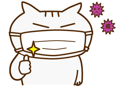 Mask virus cat
