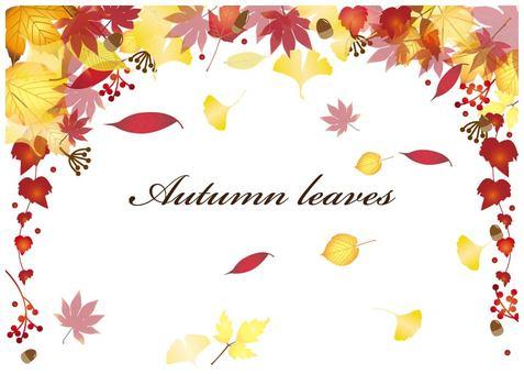 가을 프레임 배경 낙엽