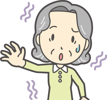노인 밥 여성 -110- 가슴
