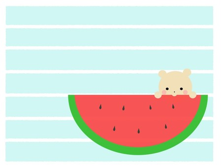 Watermelon and bear