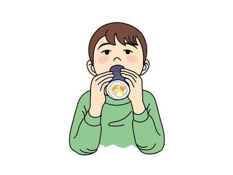 A boy who eats Ehumaki