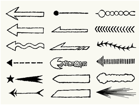 Handwritten arrow set