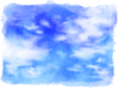 Water color blue sky