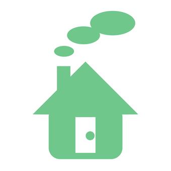 Munching chimney house (green)