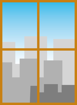 Window window frame blue sky office building