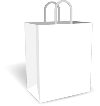 Shopping bag (white base)