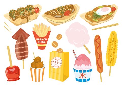節日攤位食物集